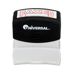 """Universal """"Faxed"""" Pre-Inked Message Stamp  Red Ink"""