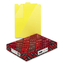 Smead Letter End Tab Out File Guide with Diagonal Pockets  Yellow  50/Box