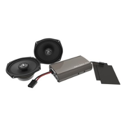 Hogtunes Front Speakers And 250 Watt Amp Kit For Harley Touring 1998-2