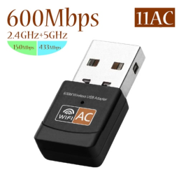 USB WiFi Adapter 600Mbps Dual Band Wireless Network Adapter