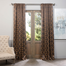 Seville Taupe & Gold Blackout Curtain