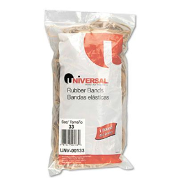 """Universal 3-1/2"""" x 1/8"""" Size #33 Rubber Bands  1 lb. Pack"""