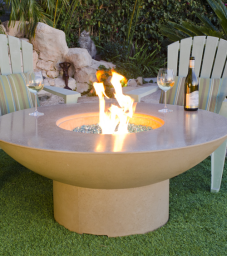 Lotus Chat Height Fire Pit Table