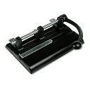 Master 1340PB 40-Sheet High Capacity Lever Adjustable 2- to 7-Hole Punch