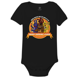 Five Nights At Freddy's Pizza Baby Onesies Black / 6M