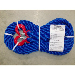"""Triple S Rope  TS-12.5HH20 Polypropylene Hook x Hook Tow Rope, 12,500Lb ~ 7/8"""" x 20 Ft"""