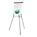"""Universal 43150 Lightweight 34"""" to 64"""" H Telescoping Tripod Easel Stand  Black"""