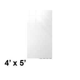Ghent Aria 4' W x 5' H Colored Non-Magnetic Glass Whiteboard