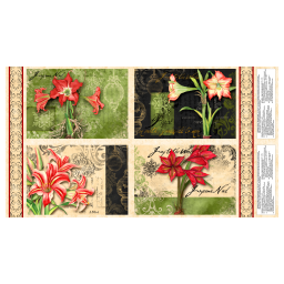 Christmas In Bloom Placemat 24 In. Panel Multi Fabric