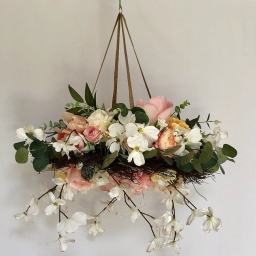 Large Floral Mobile - Coral