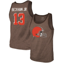 Odell Beckham Jr. Cleveland Browns Majestic Threads Player Name & Number Tri-Blend Tank Top - Heathered Brown