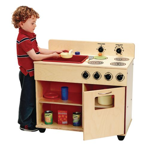 Angeles® Value Line Birch Preschool 2 in-1 Kitchen