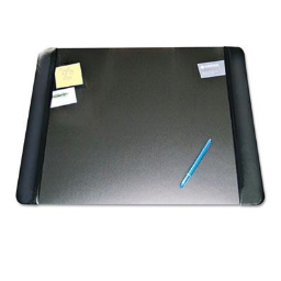 """Artistic 24"""" x 19"""" Executive Desk Pad with Leather-Like Side Panels  Black"""