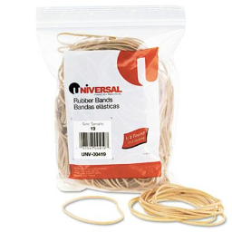 """Universal 3-1/2"""" x 1/16"""" Size #19 Rubber Bands  1/4 lb. Pack"""