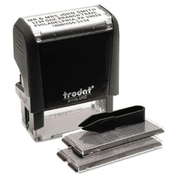 """Trodat Self-Inking Do It Yourself Message Stamp  3/4"""" x 1-7/8""""  Black Ink"""