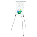 """Universal 43050 Lightweight 34"""" to 64"""" H Telescoping Tripod Easel Stand  Silver"""