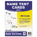 """C-Line 2"""" X 3-1/2""""  160-Cards  White Tent Card Stock"""