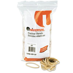 """Universal 3"""" x 1/8"""" Size #32 Rubber Bands  1 lb. Pack"""