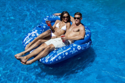 Tropical Double Pool Lounger - Set of 2