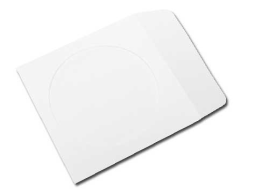 120g White Paper Sleeves CD/DVD Window with Flap - 4000