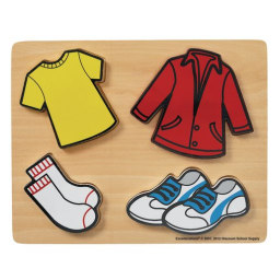 Excellerations® Clothes Chunky Puzzles