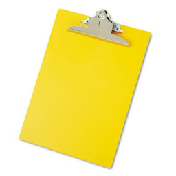 """Saunders 1"""" Capacity 8-1/2"""" x 12"""" Recycled Plastic Clipboard  Yellow"""