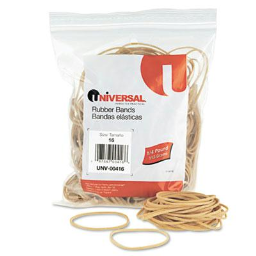 """Universal 2-1/2"""" x 1/16"""" Size #16 Rubber Bands  1/4 lb. Pack"""