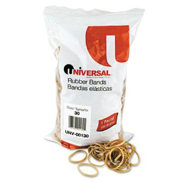 """Universal 2"""" x 1/8"""" Size #30 Rubber Bands  1 lb. Pack"""