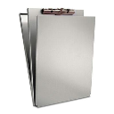 """Saunders 1/2"""" Capacity 8-1/2"""" x 12"""" A-Holder Aluminum Form Holder  Silver"""