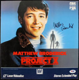Matthew Broderick Project X Authentic Signed Laserdisc Cover PSA/DNA #J00685