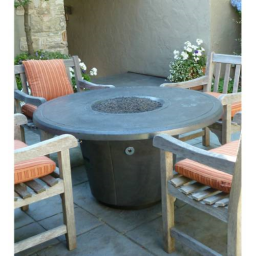 Cosmopolitan Round Fire Pit Table (Textured Finish or Reclaimed Wood)