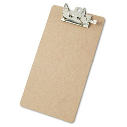 """Saunders 2"""" Capacity 8-1/2"""" x 14"""" Recycled Arch Clipboard  Brown"""