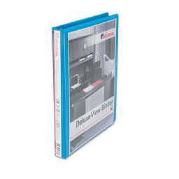 """Universal 1/2"""" Capacity 8-1/2"""" x 11"""" Round Ring Deluxe View Binder  Light Blue"""