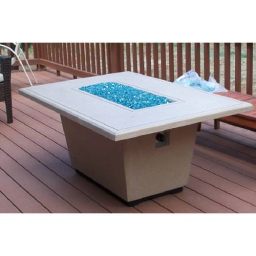 Cosmopolitan Rectangle Fire Pit Table (Textured Finish or Reclaimed Wood)