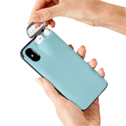iPhone Case With AirPods Holder / Blue