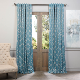 Seville Dusty Teal Blackout Curtain