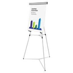 """Universal One 43035 Heavy Duty 69"""" H Presentation Easel Stand  Silver"""