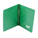 """Acco 3"""" Capacity 8-1/2"""" x 11"""" Prong Clip Pressboard Reinforced Hinge Report Cover  Dark Green"""