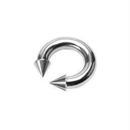 Surgical Steel Spike Head Horse Shoe Ring