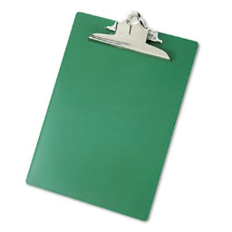 """Saunders 1"""" Capacity 8-1/2"""" x 12"""" Recycled Plastic Clipboard  Green"""