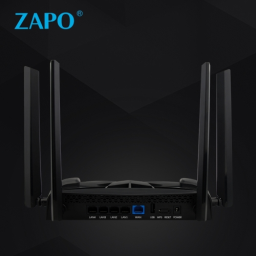 ZAPO Dual-band Wi-Fi Router AC 2600Mbps Powerful Signal 2.4G 5G Wireless Gaming Router 4 Rotate Antenna USB Files Storage Repeater