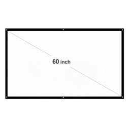 H60 60¡± Portable Projector Screen HD 16:9 White 60 Inch Diagonal Projection Screen Foldable Home Theater for Wall Projection Indoors Outdoors