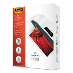 Fellowes ImageLast 5 Mil Letter-Size Laminating Pouches with UV Protection  150/Pack