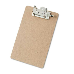 """Saunders 2"""" Capacity 8-1/2"""" x 12"""" Recycled Arch Clipboard  Brown"""
