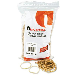 """Universal 3"""" x 1/16"""" Size #18 Rubber Bands  1 lb. Pack"""