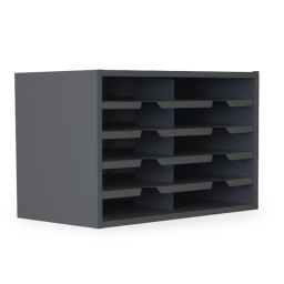 """Marvel 24"""" W 10-Compartment Steel Mail Sorter"""