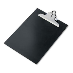 """Saunders 1"""" Capacity 8-1/2"""" x 12"""" Recycled Plastic Clipboard  Black"""