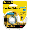 """Scotch Double-Sided Removable Tape with Dispenser  Clear  1"""" Core"""