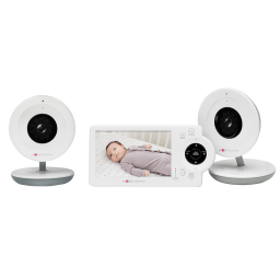 """Project Nursery 4.3"""" Baby Monitor System with 2 Digital Zoom Cameras"""