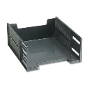 """Rubbermaid 5"""" H Stackable High-Capacity Front-Load Letter Tray  Ebony"""